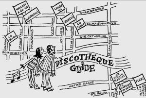 Discotheque guide Gazette 1970